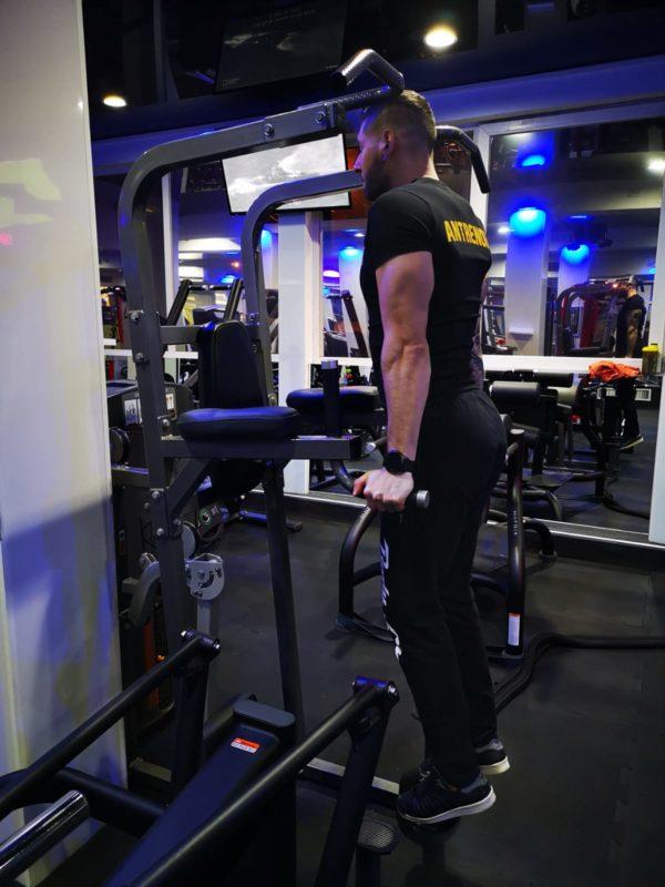 flotari la paralele triceps start