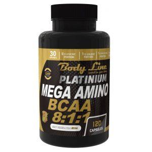 BODYLINE-PLATINIUM-MEGA-AMINO-BCAA-30-serviri-aminoacizi BCAA