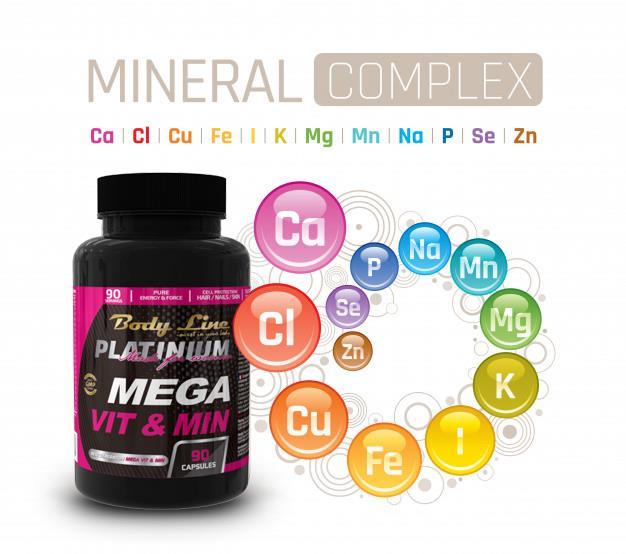 tipuri de vitamine -  MEGA VIT&MIN produs ce conține complex de vitamine si minerale.