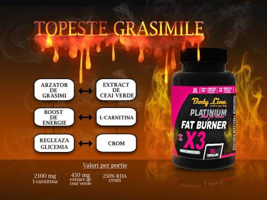 extract de ceai verde standardizat in produs fat burner x3 body line