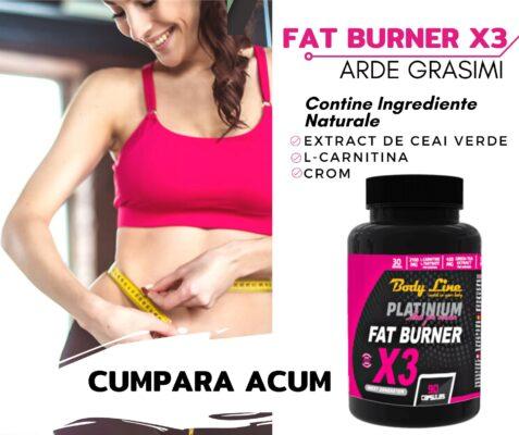 FAT BURNER X3 - ARZATOR DE GRASIMI