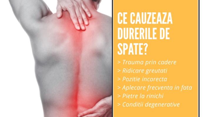 ce cauzeaza dureri de spate