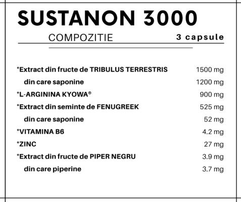 SUSTANON 3000 COMPOZITIE