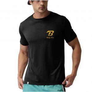 Tricou-Body-Line-negru-simplu