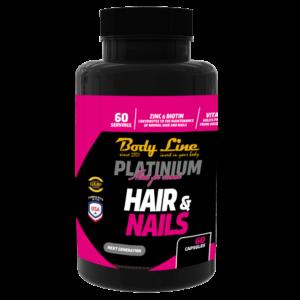 BODY LINE PLATINIUM HAIR&NAIL - vitamine pentru păr și unghii sănătoase - tratament pentru căderea părului și unghii sănătoase