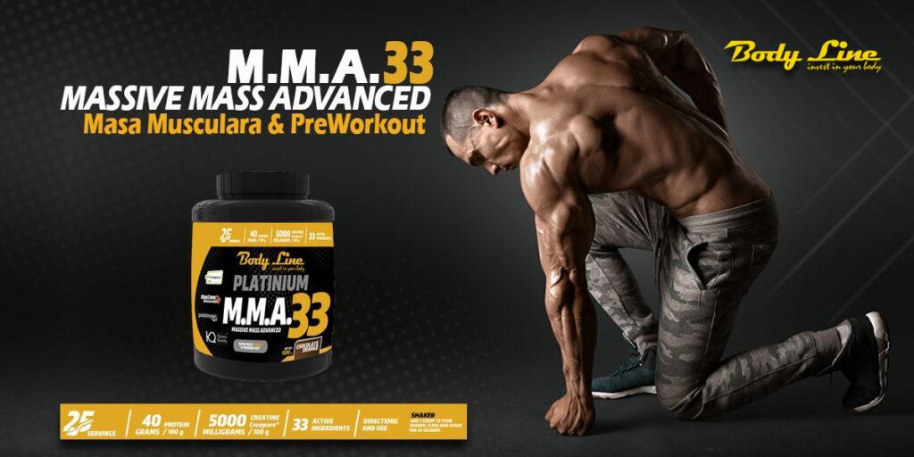 MMA33- preworkout&masa musculara rapida Banner