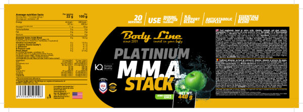 Platinium MMA Stack - Kiwi-Green Apple [400g]