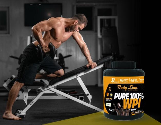 Aportul de proteine whey pure wpi 100 pentru crestere musculara