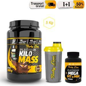 Dieta de ingrasare Pachet Kilo Mass 5kg + Mega Vit Min + shaker oferta